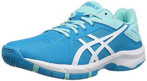 (ASICS Girls' Gel-Solution Speed 3 GS Skate Shoe, Aqua Splash/White/Diva Blue, 1 M US Big Kid)
