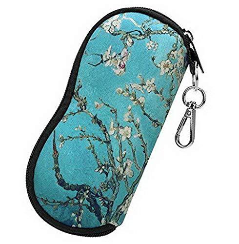 Mikash Portable Glasses Case with Carabiner Hook Eyeglasses Sleeve Pouch Travel Bag | Model TRVLWLLT - 195 |