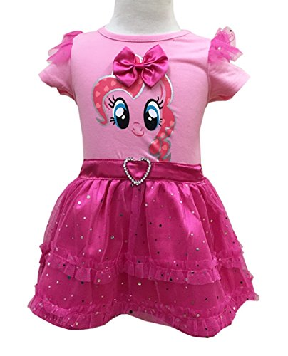 StylesILove Sparkling My Little Pony Inspired 3D Wings Tutu Girl Dress, 3 Colors (110/2-3 Years, (My Little Pony Tutu Dress)