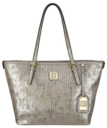 Anne Klein Perfect Medium 60290879 Shoulder Bag,Platinum,One Size, Bags Central