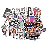 23 Pcs/Set TV Show Greys Anatomy Funny PVC Scrapbooking for Luggage Laptop Phone Decals DIY Album Stickers Doctors Gift