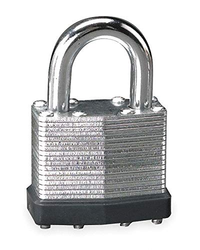 Different-Keyed Padlock, Open Shackle Type, 27/32'' Shackle Height, Silver- Pack of 5 by Unknown (Image #1)