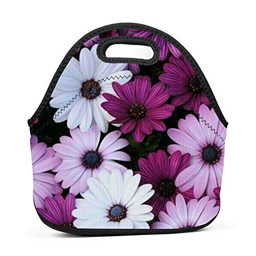 Leather Bke (RODONO Plant Flower 3D Printing Lunch Bag Tote Bag Lunch Organizer Lunch Holder Lunch Container)