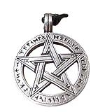Pewter pentagram pentacle Pendant Necklace A27