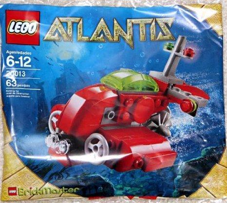 [해외] LEGO (레고) ATLANTIS BRICKMASTER EXCLUSIVE MINI BUILDING SET #20013 SUBMARINE BAGGED 블럭 장난감 (병행수입)