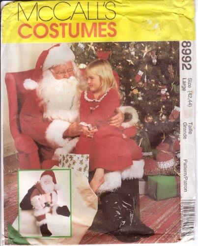 St Nicholas Costume Pattern (McCall's Sewing Pattern 8992 Santa Claus Costume, Bag & Doll, Size Large (42-44))