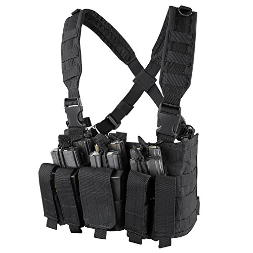 Condor Recon Chest Rig (Black) (Airsoft Tactical Gear)
