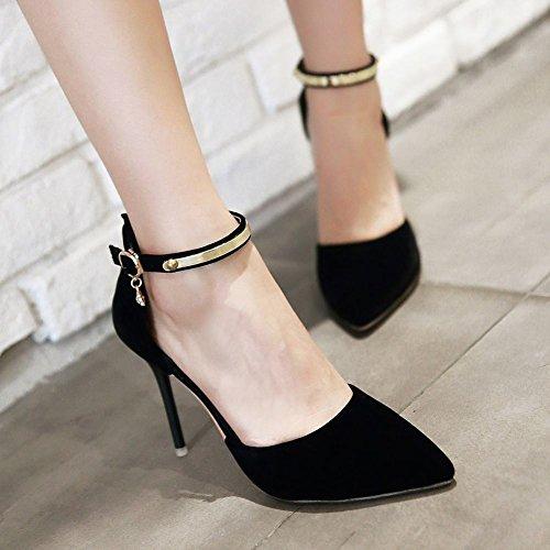 Tacco Con Da Mee Donna Shoes Spillo Cinturino A Alla Alto Caviglia Elegante aWWn4qR