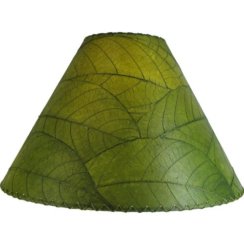 - Eangee 485-g Contemporary Cocoa Leaf Lamp Shade, Green