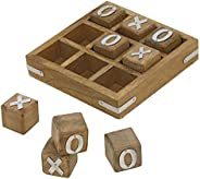 Indian Glance Tic Tac Toe Game Wooden Set for Kids Children - Travel Board Brain Teaser Game - Unique Gifts for Kids for All