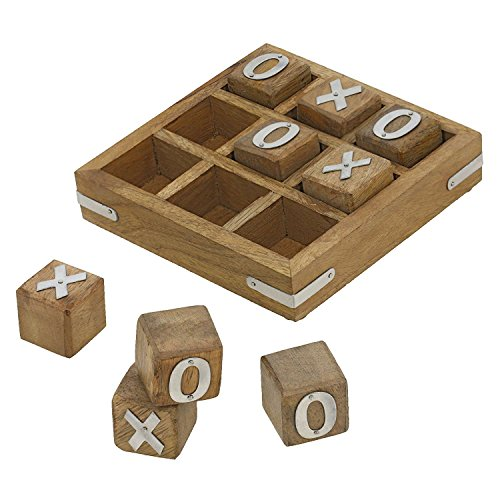Wood Tic Tac Toe Game - Indian Glance Tic Tac Toe Game Wooden Set for Kids Children - Travel Board Brain Teaser Game - Unique Gifts for Kids for All Occasions