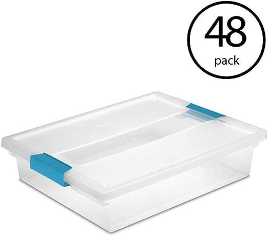 12 Pack New Sterilite 19638606 Large File Clip Box Storage Tote Container