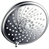 HotelSpa Extra-Large 6-Inch Rain Shower Head for Exceptional Water Coverage! High-Pressure Angle-Adjustable Shower head features Rub-clean Jets, 6 Full Settings and Premium Chrome Finish