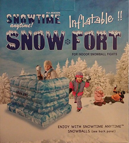 Snowtime Anytime Blow-up Snow Fort by KM INNOVATIONS Snow Fort