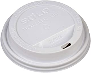 product image for Solo Cup White Traveler Drink-Thru Lid. Fits Solo 10 Ounce Squat and 12, 16, 20 and 24 Ounce Solo Brand Hot Beverage Cups. 400 Pack