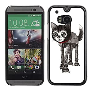 Colorful Printed Hard Protective Back Case Cover Shell Skin for All New HTC One (M8) ( Funny Star Cat )