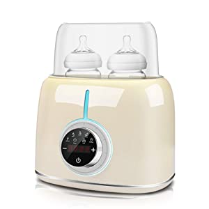 Daufri Fast Baby Bottle Warmer for breastmilk Milk Powder,6-in-1 Modes Baby Food Heater Sterilizer,Sanitize Pacifiers and Tableware,Safe Material,Child Lock Temperature Keep Safe to use Auto -Off