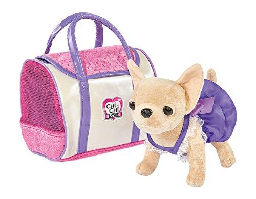 Simba 105897407 - Chi Chi Love Plüschhund 20cm mit glänzender Tasche