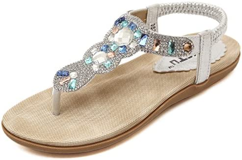 Life Palaza Women's Wedding Sandals Crystal with Rhinestone
