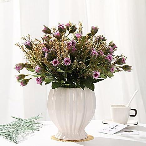 Baegony Bouquet De Rosas Ornamentos Florales Establecer Tabla De Simulación De Pote De La Flor De