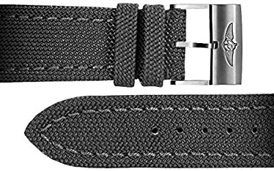 Breitling 24/20 Anthracite Canvas Strap 100W by Breitling