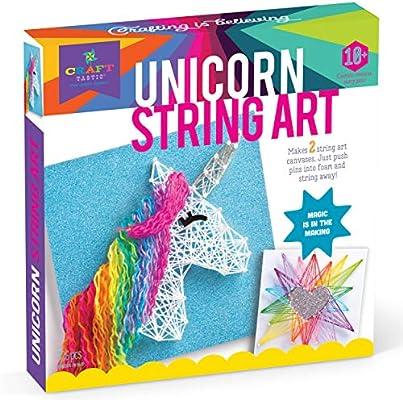 Craft Tastic String Art Kit Craft Kit Makes 2 Large String Art Canvases Unicorn Edition