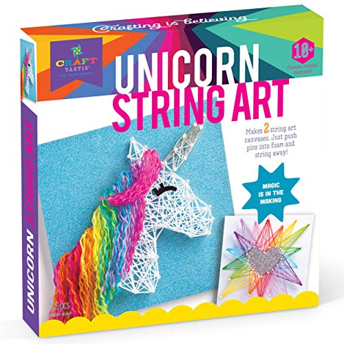 (Craft-tastic - String Art Kit - Craft Kit Makes 2 Large String Art Canvases - Unicorn Edition)
