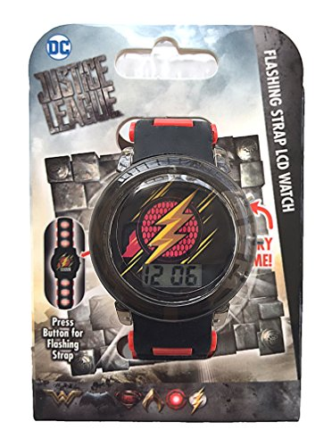The Flash Justice League Flashing Kids Watch with Flashing Band