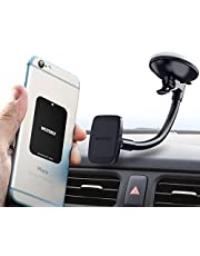WUTEKU Magnetic Windshield Phone Mount Hexadyium with 6 Magnets to Hold Phones - Compatible with Samsung S8 and S8, iPhone XR, XS, X 8, 7, 7 Plus by Pro Drivers - Heavy Duty Adjustable System