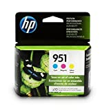 HP 951 Ink Cartridges Cyan, Magenta & Yellow, 3 Ink Cartridges (CN050AN, CN051AN, CN052AN) for HP Officejet Pro 251, 276, 8100, 8600, 8610, 8620, 8625, 8630…