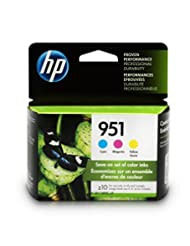 HP 951 Ink Cartridges: Cyan (CN050AN), Magenta (CN051AN) & Ye...