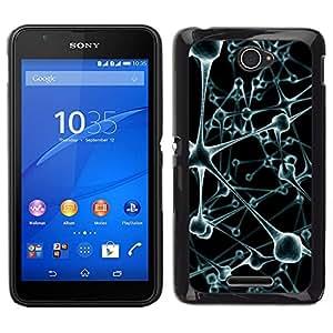 // PHONE CASE GIFT // Duro Estuche protector PC Cáscara Plástico Carcasa Funda Hard Protective Case for Sony Xperia E4 / Virus Cell Blood Stems /