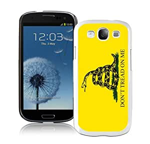 Don't Tread on Me White Case Cover for Samsung Galaxy S3 i9300 Grace and Cool Design