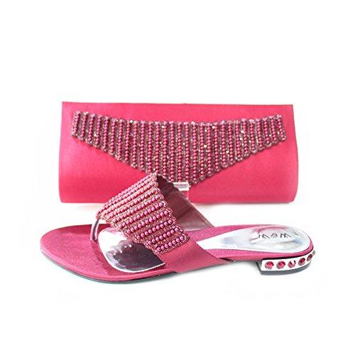 Wear & Walk UK - Cartera de mano para mujer Rojo - marrón