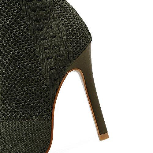 calcetines zapato alto la tejer mujer La ZHZNVX talón Elegante a peces de apricot expuestos en boca fino qZAxt