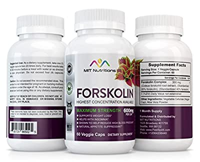 FORSKOLIN - 100% Pure Forskolin for Weight Loss | 600mg per day | Strongest Forskolin Extract | The Best Forskolin Fat Burner | Forskolin Coleus Extract for Rapid Weight Loss and Fat Burn!