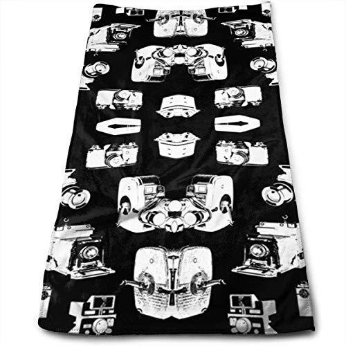 Brocade Black Camera Bag - Vintage Cameras Black 100% Cotton Towels Ultra Soft & Absorbent Bathroom Towels - Great Shower Towels, Hotel Towels & Gym Towels