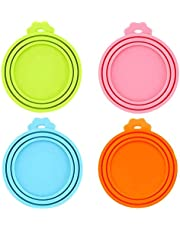 Pet Food Can Lids, Universal BPA Free Silicone Can Lids Covers for Dog and Cat Food, One Can Cap Fit Most Standard Size Canned Dog Cat Food