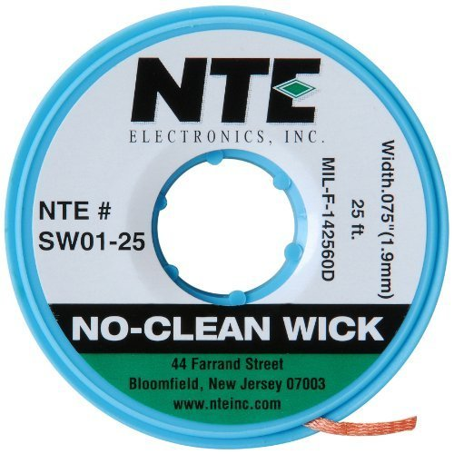 NTE SW01-25 No-Clean Wick ##3 Green 0.075 x 25 -