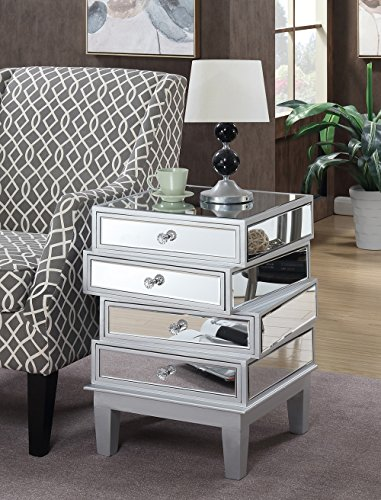 Convenience Concepts 413888SS Gold Coast J Daniels End Table