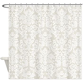 Amazon Vintage Battenburg Lace White Cotton Shower Curtain