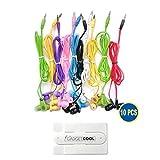 Gadget.Cool 10pcs Pack of 10 Wholesale Bundle Wire Cord Color Simple 3.5mm...
