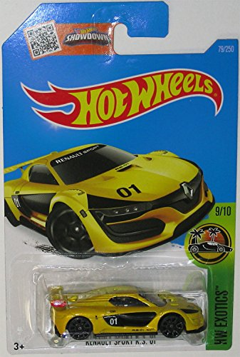 Hot Wheels 2016 HW Exotics Renault Sport R.S. 01 79/250, Yellow Renault Le Car