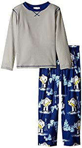 Komar Kids Big Boys' Yeti Thermal BMJ 2 Piece Sleep Set