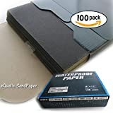 100 of Sandpaper Sheets 9''x11'', Grit: P120 - Abrasive Silicon Carbide Waterproof C-weight Kraft Sanding Paper Electro Coated