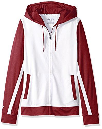 UPC 889436247902, Girl's ASICS Girls Jr Lani Jacket, White/Cardinal, Medium