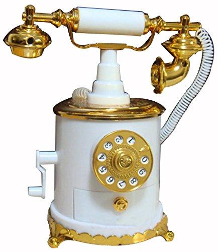 HorBous Clásico de estilo europeo a la antigua retro cosecha de talla teléfono teléfono caja de música joyero musical - 5 estilos (1) 3