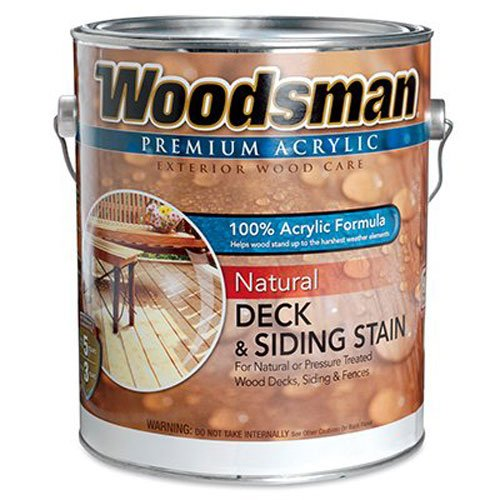 General Paint & Manufacturing WNC-2 Woodsman 100-Percent Acrylic Natural Deck, Siding and Fence Stain, Redwoodtone, 1-Gallon