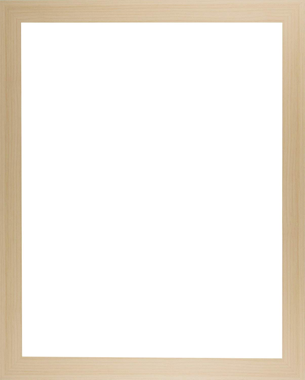 Bilderrahmen Monaco MULTIFIT 20 x 24 cm Farbwahl Hier Ahorn Dekor mit wei/ßer R/ückwand und Acrylglas klar 1mm