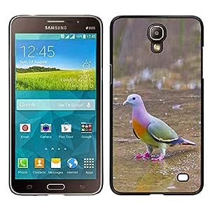 Pájaro tropical Paloma Verde Ornitología- Metal de aluminio y de plástico duro Caja del teléfono - Negro - Samsung Galaxy Mega 2